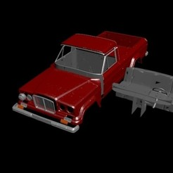 Download 3D printing models Jeep Gladiator'62 (RC body), PrintYourRC