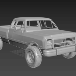 Безымянный.png Download OBJ file Dodge RAM body for SCX10(RC body) • Object to 3D print, PrintYourRC