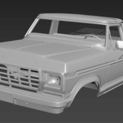 Download 3D printing designs FORD F250'78 RC BODY, PrintYourRC