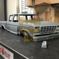 Download 3D printer templates FORD F350 1972 Dual cab rc body, PrintYourRC