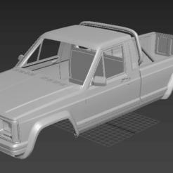Download 3D model Jeep Comanche MJ 1984 (RC BODY) 313 wheelbase, PrintYourRC