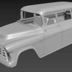 Download 3D printer files Chevrolet SUBURBAN'55 313/324mm wheelbase(RC BODY), PrintYourRC