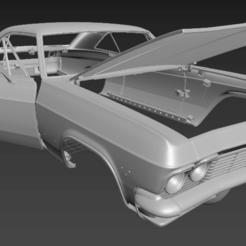 Download 3D printing models Chevrolet Impala 1965 RC Scale body, PrintYourRC