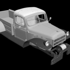 1.jpg Download OBJ file Dodge Power Wagon 1946 RC BODY • Object to 3D print, PrintYourRC