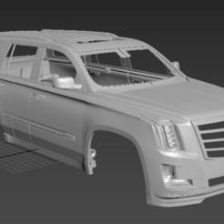Безымянный.jpg Download STL file Cadillac Escalade 2017 (RC BODY) • Design to 3D print, PrintYourRC