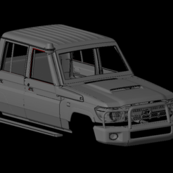 Безымянный1.png Download OBJ file Toyota Land Cruiser Double Cub (1/24-1/8 SCALE) • Design to 3D print, PrintYourRC