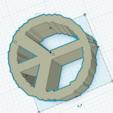 Download free STL file Earrings peace & love • Design to 3D print, ojgarciar10