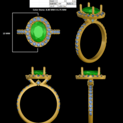 4.png Download STL file Micro Setting Uniq Ring • Design to 3D print, rimpapramanik82