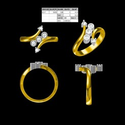 Download STL files 5 Diamond Women Ring, rimpapramanik82