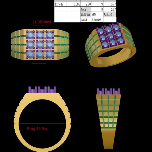 Download 3D printer designs Gents Ring, rimpapramanik82