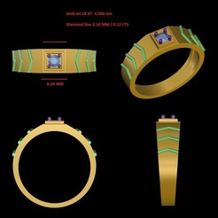MRing-077.jpeg Download STL file Gent Ring  • 3D printing model, rimpapramanik82