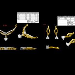 Télécharger objet 3D Tanmoniya Mangal sutra avec boucles d'oreilles, rimpapramanik82