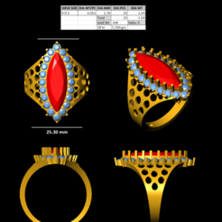 1.png Download STL file Marquise style ring • 3D printer object, rimpapramanik82