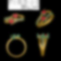 Download STL file Heart stone Ring, rimpapramanik82