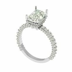 4.jpg Download STL file Radiant Stone Ring with Diamond • 3D print model, rimpapramanik82