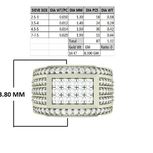 3D-printerontwerpen downloaden Gents Ring, rimpapramanik82