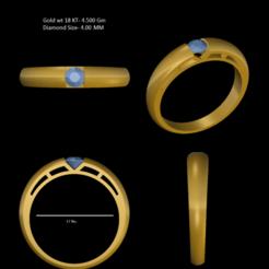 1.png Download STL file Solitary Beutyfull Looking Ring • 3D print template, rimpapramanik82