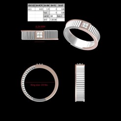 Download 3D printer designs Band Ring, rimpapramanik82