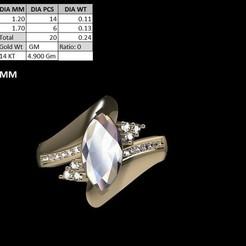 Download 3D printing designs Marqise Stone Ring, rimpapramanik82