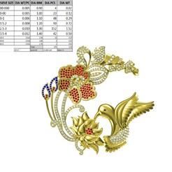 Télécharger plan imprimante 3D Soutien à la parure de pendentif d'oiseau Jewelcad, rimpapramanik82