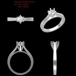 Download 3D model Single diamond Ring, rimpapramanik82