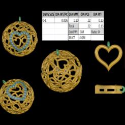 Télécharger fichier STL pendentif jali en forme de boule en forme de coeur • Objet pour impression 3D, rimpapramanik82