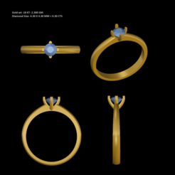 1.png Download STL file Women Single diamond Ring • 3D printer object, rimpapramanik82