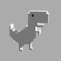 Télécharger fichier 3D google dinosaur, pabloezelivingston
