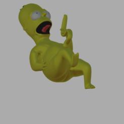 Télécharger fichier impression 3D bébé Homer, pabloezelivingston
