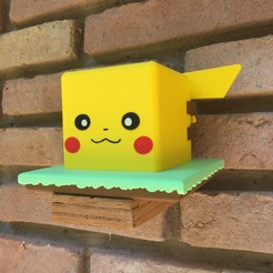 IMG_1972.JPG Download STL file Pikachu pot (Pokemon) • 3D printing model, Arbros