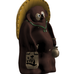 Download STL file Tanuki Statue - Animal Crossing • 3D printing object, Arbros
