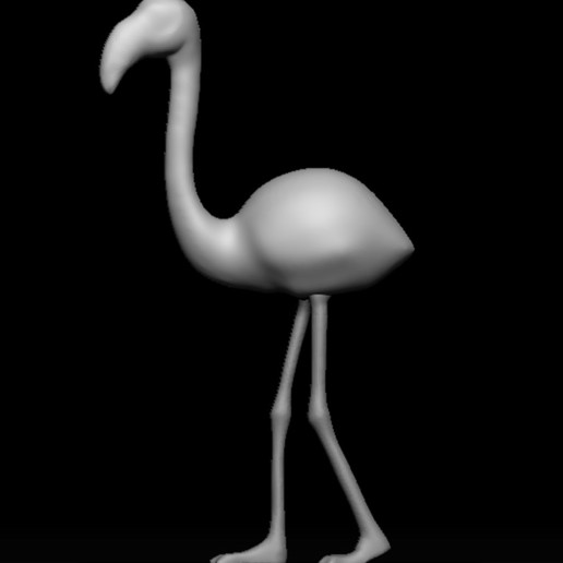 Download free 3D printer designs Flamenco - flamingo, WaKi