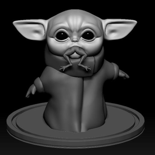 Download 3D model BaBy Joda eating frog, WaKi