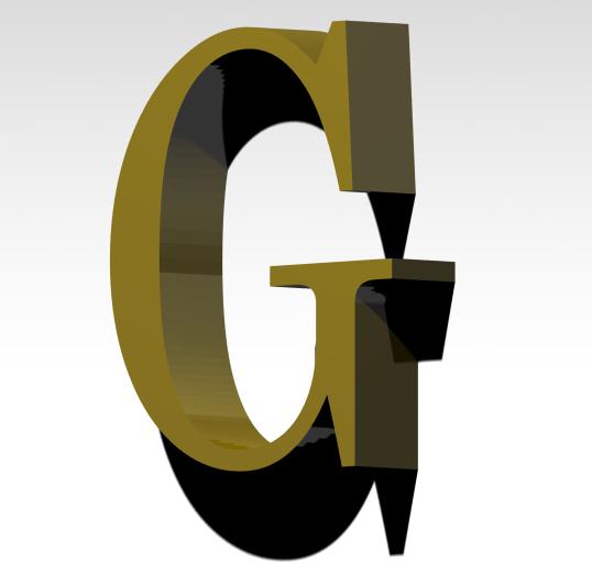 G3.jpg Télécharger fichier 3MF gratuit Lettre G de l'alphabet (SANS SOUTIEN) • Modèle pour imprimante 3D, Molina