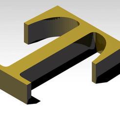 Télécharger modèle 3D gratuit Lettre alphabétique T (PAS DE SUPPORT), Molina