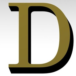 D1.jpg Download 3MF file Letter D of the alphabet (NO SUPPORT) • 3D printing model, Molina