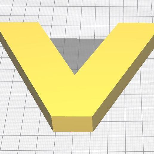V-Cura.JPG Télécharger fichier GCODE gratuit Lettre V de l'alphabet • Modèle à imprimer en 3D, Molina
