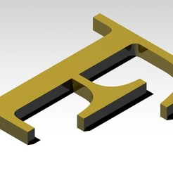 F1.jpg Download 3MF file Letter F of the alphabet (NO SUPPORT) • Model to 3D print, Molina
