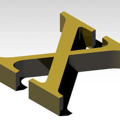 Download free 3D printer model Letter X of the alphabet (NO SUPPORT), Molina