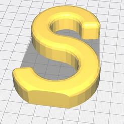 Download free 3D printing models Alphabet letter S, Molina
