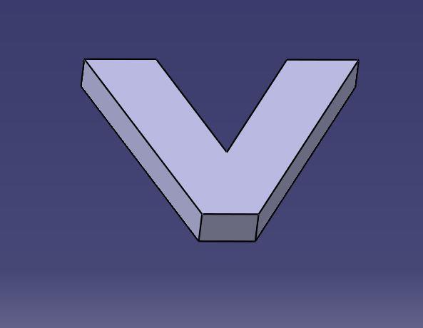 V-Catia.JPG Télécharger fichier GCODE gratuit Lettre V de l'alphabet • Modèle à imprimer en 3D, Molina