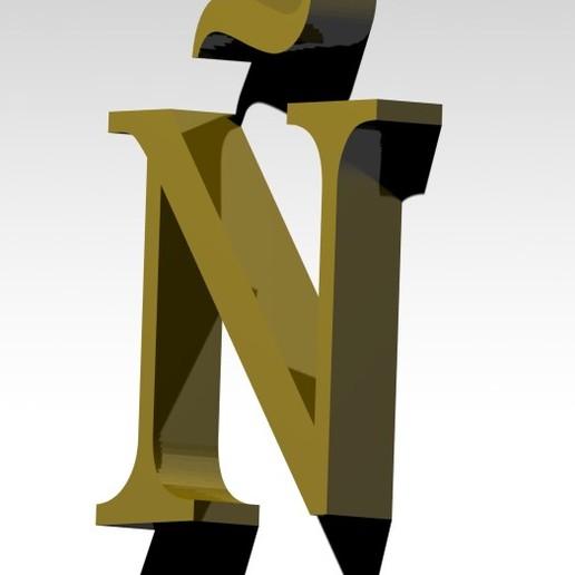 3.jpg Télécharger fichier 3MF gratuit Lettre Ñ de l'alphabet (SANS SUPPORT) • Design pour impression 3D, Molina