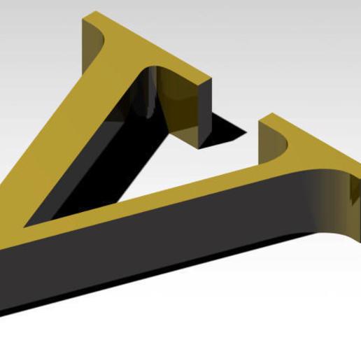 Télécharger fichier 3MF gratuit Lettre V de l'alphabet (SANS SUPPORT) • Design imprimable en 3D, Molina