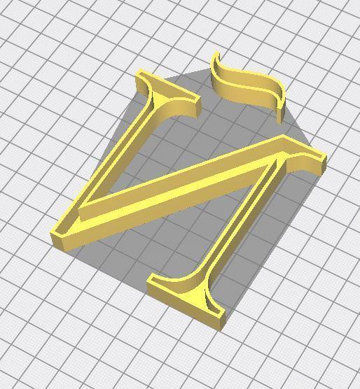 5.JPG Télécharger fichier 3MF gratuit Lettre Ñ de l'alphabet (SANS SUPPORT) • Design pour impression 3D, Molina