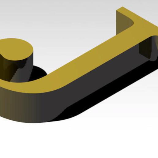 Télécharger fichier 3MF gratuit Lettre J de l'alphabet (SANS SUPPORT) • Plan imprimable en 3D, Molina