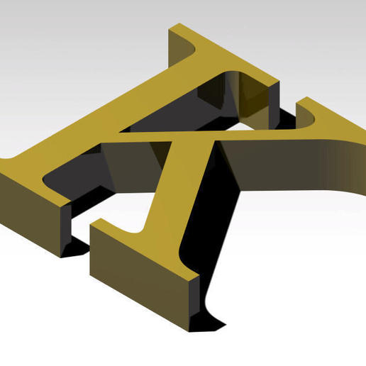 Télécharger fichier 3MF gratuit Lettre K de l'alphabet (PAS DE SUPPORT) • Modèle à imprimer en 3D, Molina
