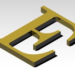 E1.jpg Télécharger fichier 3MF Lettre E de l'alphabet (SANS SUPPORTS) • Plan pour impression 3D, Molina