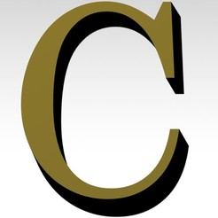 Télécharger fichier 3MF Lettre C de l'alphabet (PAS DE SUPPORT) • Plan à imprimer en 3D, Molina