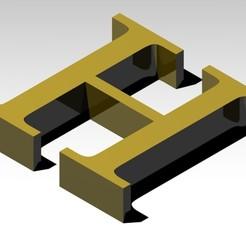 Télécharger fichier STL gratuit Lettre H de l'alphabet (PAS DE SUPPORT), Molina