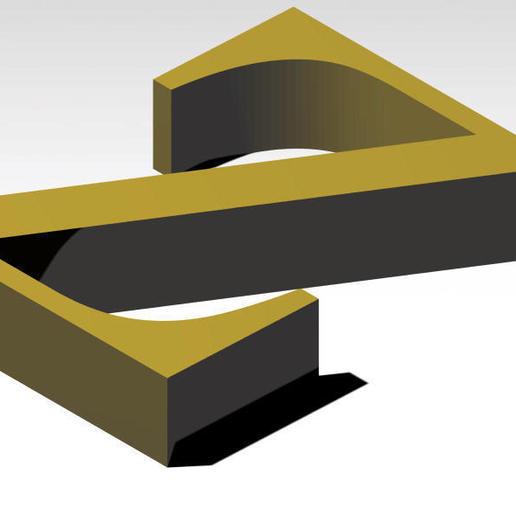 Télécharger fichier 3MF gratuit Lettre Z de l'alphabet (SANS SOUTIEN) • Design pour impression 3D, Molina